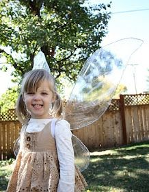 Fairy Wings DIY - Party favors! Making with iridescent fabric, so they'll last.