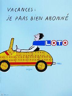 Galerie Montmartre - Vacances Loto (1989) by Raymond Savignac