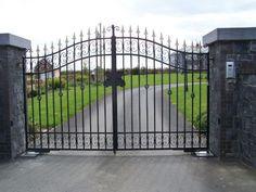 american standard design moderno giardino esterno cancelli in ferro battuto