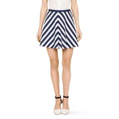Club Monaco. Use striped fabric cut on the bias and pattern match the seams-- put a front seam in!