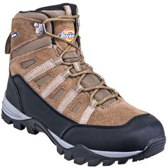 Dickies Boots: Men's DW1422 Brown EH Steel Toe Hiking Work Boots,    #Boots…