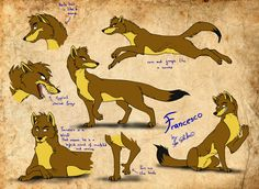 Francesco refsheet by StanHoneyThief.deviantart.com on @DeviantArt Thought I make some official character refsheets of the main characters of these kinds. Francesco is a typical Wiesli. Different than Wiesli the very first of his kind who carries the name of the species as his personal name (yeah that is not original) this guy is a little bit different. His body shape more reminds on a coyote/fox than on a weasel. But he has some weaselish features such as the paws which have clear thumbs…