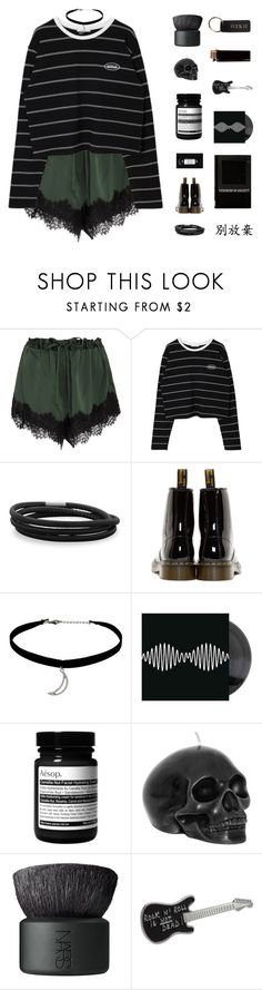 """""""♡; i'm so worried when i see you leave"""" by spriingy ❤ liked on Polyvore featuring macgraw, BillyTheTree, Dr. Martens, Topshop, Aesop, NARS Cosmetics and agnès b."""