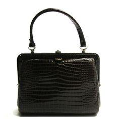 Fifties croco handbag #doortjevintage