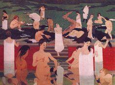 """Felix Vallotton :  """" Le bain au soir d'ete """" 1893  - (c)  Kunsthauss - Zurich"""
