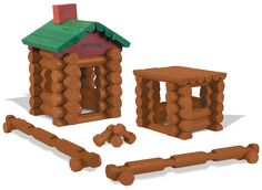 Amazon.com: LINCOLN LOGS – 100th Anniversary Tin - 111 All-Wood Pieces – Ages 3+ Construction Education Toy: Toys & Games