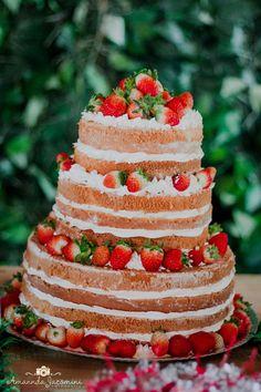 Decoração Festa Picnic - Bolo Naked Cake