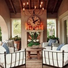 this is actually an outdoor patio but I like it for a living room! (pp)