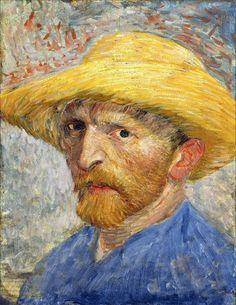 Vincent van Gogh  ·  Autoritratto  con cappello di paglia  ·  1887  ·  Detroit Institute of Arts Museum