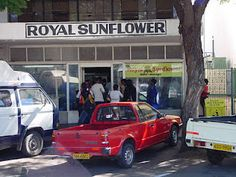 Royal Sunflower: This place right here satisfied my foodie cravings on a daily basis. The must-have item on their menu is the chips loaded with vinegar and salt plus the Russian sausages. Talk about downright delicious! Must Have Items, Sausages, Hanging Out, Vinegar, My House, Cravings, Zimbabwe Africa, Salt, Chips