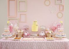 Table à desserts pastel #sweet #table #wedding #dessert #sweettable #mariage