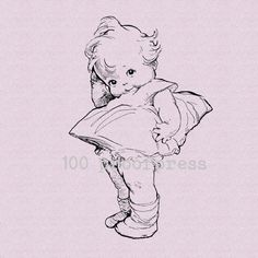 Big Kewpie Doll Mounted Rubber Stamp 6235 by 100ProofPress on Etsy So cute! Love this stamp.