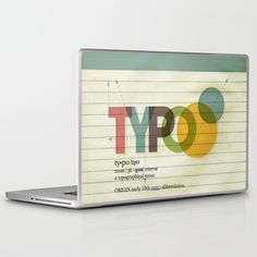 typo Laptop & iPad Skin