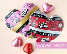 DIY: Paper Heart Pouches