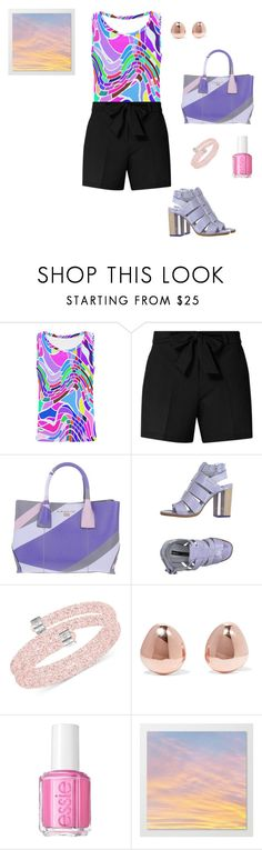 """""""Mosaic"""" by m-and-d-16 ❤ liked on Polyvore featuring Dorothy Perkins, Nannini, Miista, Swarovski, Monica Vinader and Essie"""