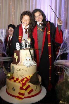 Gabriella Saraivah, a Tati de Chiquititas, vira Hermione em festa de aniversário