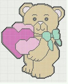 BEAR HOLDING HEARTS WALL HANGING by KATHY