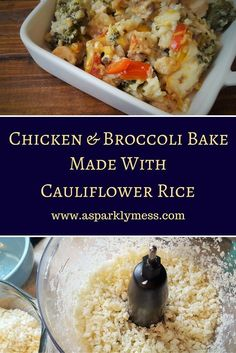 This Chicken and Cauliflower Casserole is simple, healthy and super delicious. Using Cauliflower Rice and packed with vegetables, lean chicken and a creamy cheese sauce. You wont believe how good this casserole actually is for you.