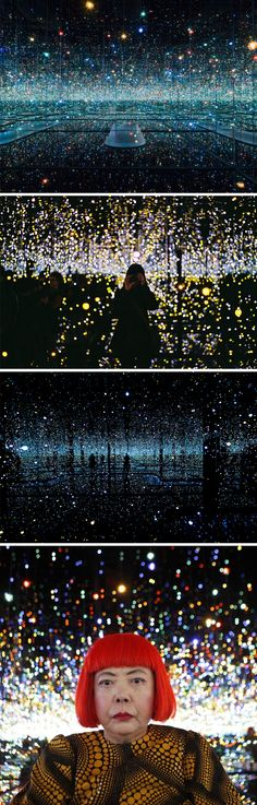 yayoi kusama at the broad museum, la