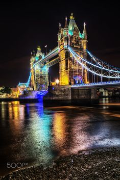 ***Tower Bridge at night (London, England) by Christian Müller on 500px