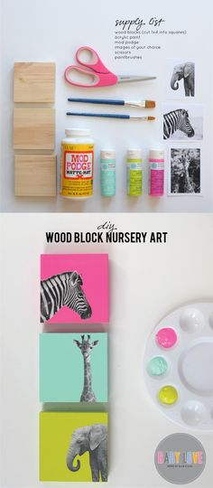 aliceandlois.com - Wood Block Art -Ingeniosas tablas decorativas infantiles
