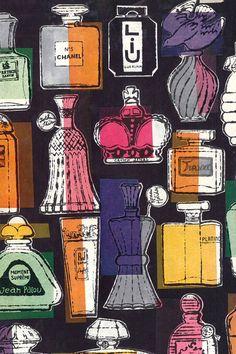 アンディ・ウォーホールの作品 香水デザインイラスト