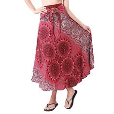 Rita Risa Womens Boho Hippie Circle and Flowers Design Harem Skirt Maternity Swimwear, Maternity Wear, Peasant Skirt, My Jeans, Big Fashion, Running Shorts, Hippie Boho, Flower Designs, Plaid