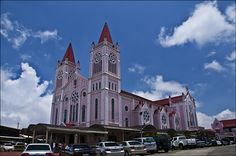 Cathedral in Baguio is located near town center on the hill with fantastic view on the whole city.