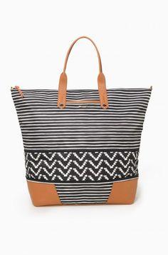 Black and Cream striped #getawaybag
