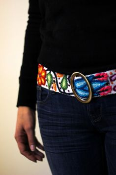 White Belt - Wool Belt for Women - Handmade Floral Belt  About our belts for women:  - Elegant floral design and a pleasure to wear, it will bring joy to you through its visual beauty as you will want to wear it time and time again.  - We offer several background colors; combined with different flower colors.  - Sizes: Small: 42 inches long x 2 inches width (107 cm long x 5 cm width) Medium: 44 inches long x 2 inches width (112 cm long x 5 cm width) Large: 46 inches long x 2 inches width…