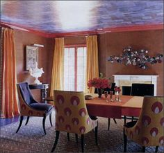天井からのカーテン