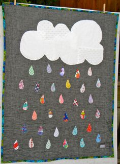 *As a mobile: Lovely rain quilt by picklehead on Etsy, $98.00