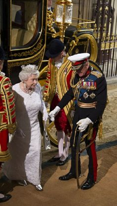 HM Queen Elizabeth II and Prince Phillip, Duke of Edinburgh arrives at the State Opening of Parliament, London - 4th June 2014