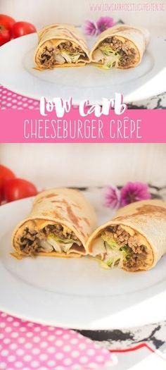 Wer braucht da noch Brötchen? Super leckere Cheeseburger Crêpe! www.lowcarbkoestlichkeiten.de