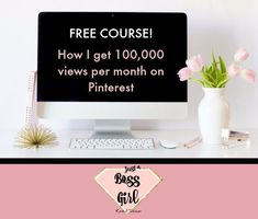 Learn how I get over 100,000 views per month on Pinterest - Free video course Free Courses, Passive Income, Get Over It, Invitations, Learning, Creative, Blogging, Tips, Invitation