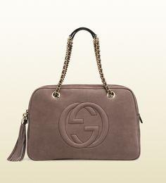 Gucci - soho nubuck leather chain shoulder bag 353126AHHHG2137