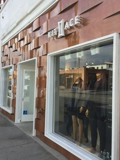 Interior Design, Architecture, Custom Metals, Modern & Contemporary Móz Designer Metals Engravings Collection in Tide Ocean Waves in Shimmer Aluminum- Penny Copper, Inviting Imagination Exterior Weavewall #InvitingImagination #Weavewalll #MozDesignerMetals #retail