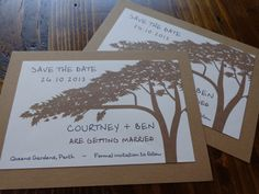 SAVE THE DATE Rustic Hand Made and Customised by CreateTheDate