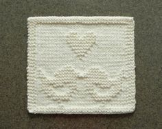 Knit Dishcloth MAPLE LEAF. Hand Knitted Unique by AuntSusansCloset