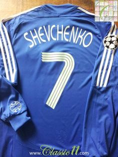 2b699598244 Relive Andriy Shevchenko s Champions League season with this original  Adidas home long sleeve football shirt.