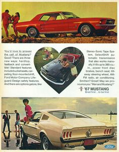 Retro 1967 Ford Mustang Ad