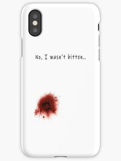 """""""Bitten Graphic Zombie Halloween Novelty Injury Men Women Tee"""" iPhone Cases & Covers by Chris  Kelly   Redbubble"""