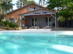 maison en bois avec piscine proche des plages ocanes bassin darcachon