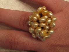 I am HUGE into rings right now. Probably because it is a difficult piece of jewlery for my 5 month old can destroy. I bought a ring the ot. Beaded Rings, Beaded Bracelets, Ring Tutorial, 5 Month Olds, Jewlery, Swarovski, Beads, Crochet, Stuff To Buy