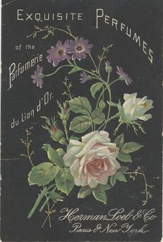 Perfume, Herman Loeb & Co., Paris and New York, vintage label