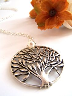 Tree Necklace, Pendant Necklace, Fingerprint Jewelry, Jewerly, Dress Up, Bling, Unique Jewelry, Handmade Gifts, Vintage