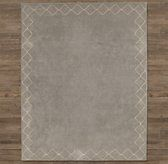 Sketched Diamond Border Rug