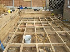 Nigel Sussex project with railway sleepers and decking 6