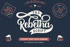 The Rebetha Duo consists out of complementary script & sans serif combination. On top of that, it also includes a... Script Logo, Handwritten Fonts, New Fonts, Create T Shirt Design, Site Website, Character Map, Premium Fonts, Mug Designs, Shirt Designs
