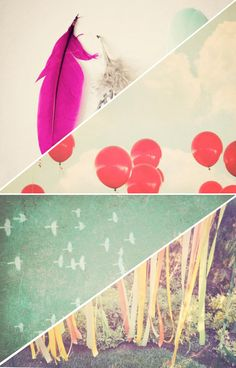 Inspired by these prints and textures. Love the balloons.